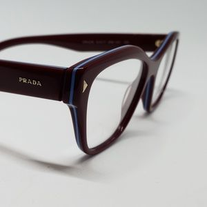 Prada RX New Authentic Eyeglasses(burgundy  blue)